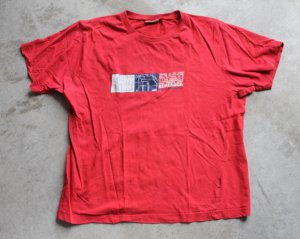 ZARA 100% COTTON RED T-SHIRT  sz 14 Skating on the streets