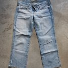TRF basics denim cropped blue jeans dżinsy low rise pants trousers Pantaloni Hosen sz 2