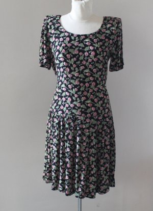 Donna Ricco New York floral black dress, Size M, Flattering