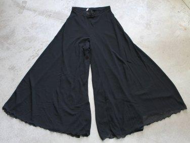 Tailor Made Womens elegant pants chiffon skirt Black sz 6 USA, 38 EUR