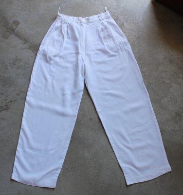 White Women's Pants trousers pantalones hosen Sz S Ladies