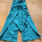 Unisex Blue Fisherman Pants Shorts 3/4 leg Cotton Sz 23 trousers pantalones hosen