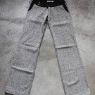 GRIP TWEED WOMEN'S PANTS TROUSERS PANTALONS HOSEN GRAY W 25