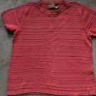 LIZ CLAIBORN LIZWEAR Knit Pink Orange Top T-shirt Blouse Sz M Petite