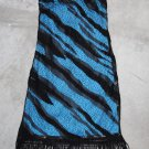 MON.LIZ Paris N.Y Sexy Blue & Black Net Junior mini Club dress sz XS