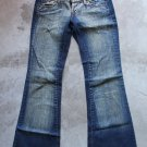 COMIX Jeans Blue Women Low Rise Wide Leg Jeans Pants Trousers Pantalons Hosen Sz 6