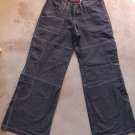BOY LONDON Women Junior Blue Jeans Cargo Pants Trousers Pantalons Hosen Sz M