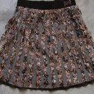 AMICA Boho Brown Camouflage Military A-Line Mini Skirt Gonna Юбка Jupa sz 40