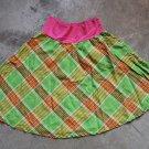 DIXIE Mini Flared Plaid Green Sun Skirt Gonna Юбка Jupa sz 6
