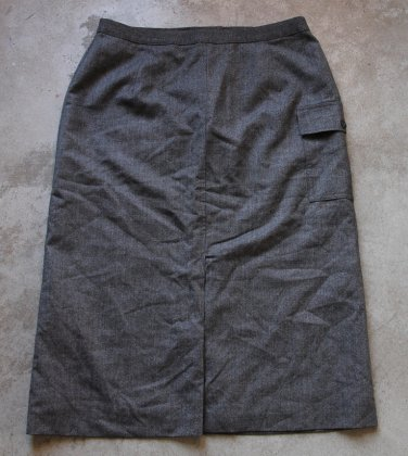 ST.MICHAEL MARKS & SPENSER Wool Gray Skirt Gonna Юбка Jupa sz 14