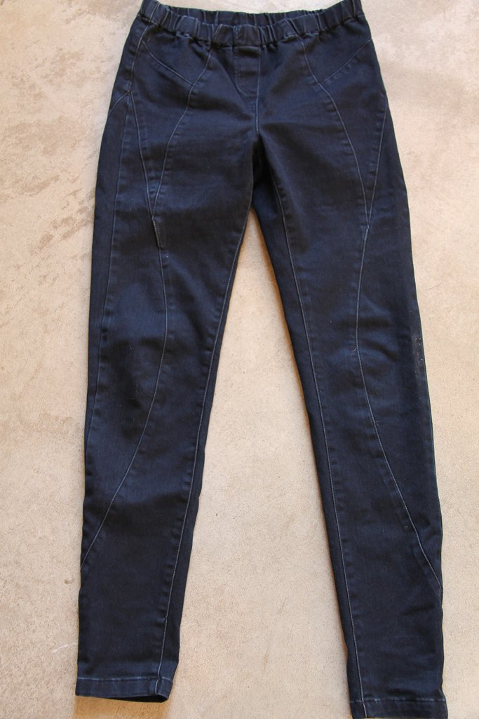 GOLF Jeans Spirit Lycra Blue Leggings Tights sz M