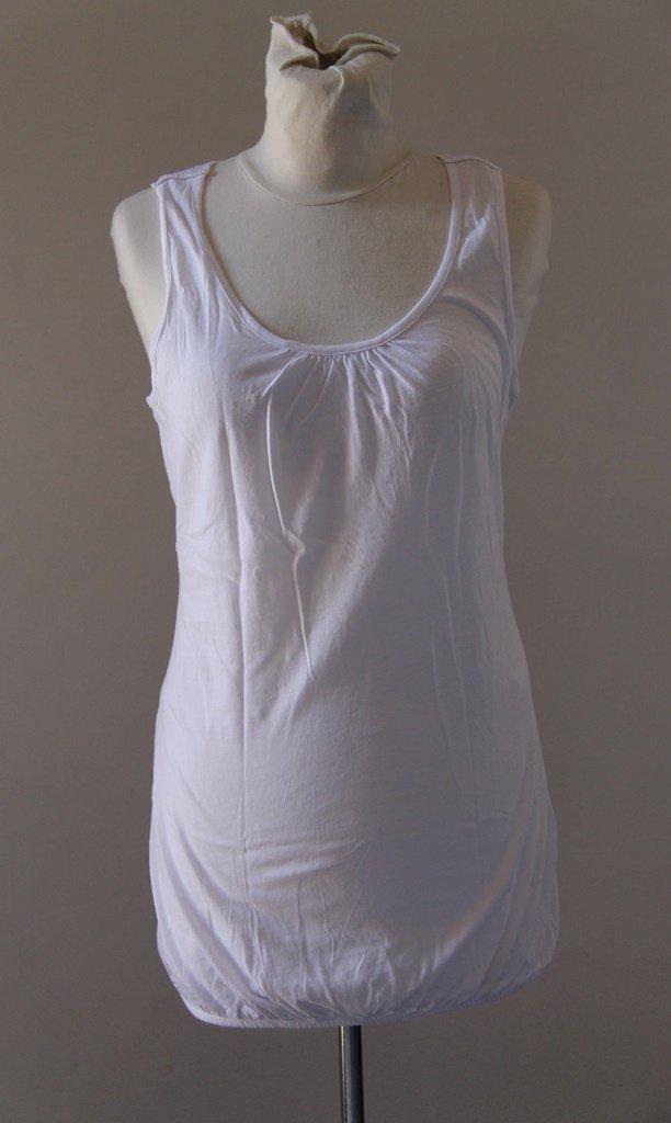 ESPRIT White Emroidered Shoulder Straps Tunic Camisole Singlet Canotta tank top Sz S