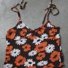 DIVIDED Sexy Brown Orange Camisole Spagetti Straps Singlet Canotta tank top Sz 10