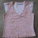 ENERGIE Sleeveless Floral Shirt Canotta tank top Sz M