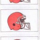 Cleveland Browns Postcard Sheet