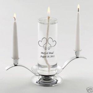 Premier Eternity Unity Candle Set & Personalized Free