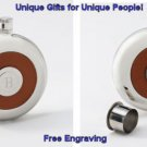 Oxford Round Leather Flast and Shot  w/ Free Engraving