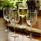Set of 4 White Wine Glasses (19 oz) - Free Personalization