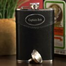 8 oz. Leather Flask - Free Personalization