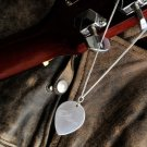 Sterling Guitar PIck Necklace/ Free Personalization