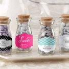 """Vintage"" Milk Favor Jar - Wedding (Set of 36) (Free Personalization)"