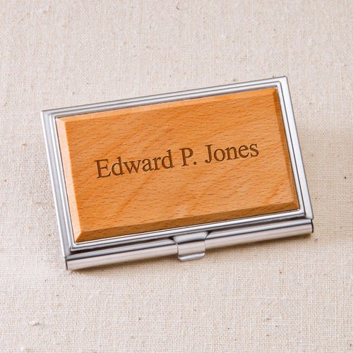 Wood Business Card Case - Free Personalization