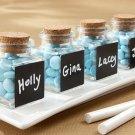 """""""Chalkboard"""" Glass and Cork Favor Jars (Set of 24)"""
