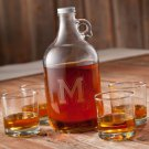 Whiskey Growler Set (4 whiskey glasses) - Free Personalization