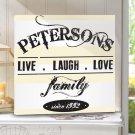 Live.Laugh.Love Canvas Print - Free Personalization