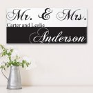 Mr. & Mrs. Couples Canvas Print - Free Personalization