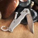 Klondike Folding Knife with Flashlight - Free Personalization