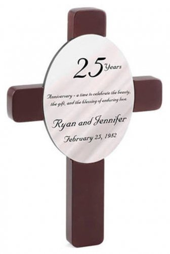 . Personalized Oval Wedding Cross - Available in 12 Designs