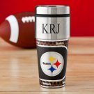 NFL Travel Tumbler with Metallic Wrap - Free Personalization