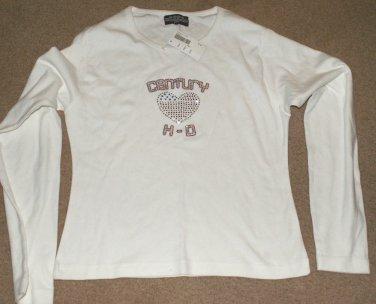 Century Harley Davidson White Shirt - Size XL - Sports Gallery - Bejewled