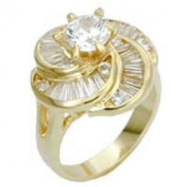 Women's Elegant Russian Blue Radiance CZ Ring