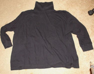 All American Comfort Black Turtleneck Size 4X - 100% Cotton