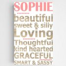 Personalized Kids Definition Canvas Sign - 2 Sign Options (Boy/Girl)