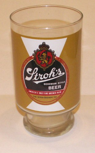 Stroh's Bohemian Style Beer Glass - In Excellent Condition