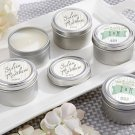 Rustic Wedding Personalized Travel Candle -Set of 24 - Wedding Favor
