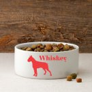Man's Best Friend Silhouette Small Dog Bowl - Free Personalization