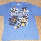 Disney Kingdom Hearts Blue Shirt - Size Large