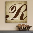 Calligraphy Monogram Canvas Print - Free Personalization