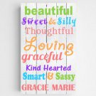 Personalized Colorful Kids Canvas Sign - 2 Sign Options
