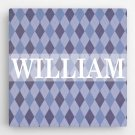 Personalized Pattern Kids Canvas Sign - 2 Sign Options