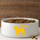 Man's Best Friend Silhouette Large Dog Bowl - Free Personalization
