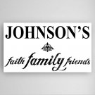 Personalized Faith, Family and Friends Canvas Sign