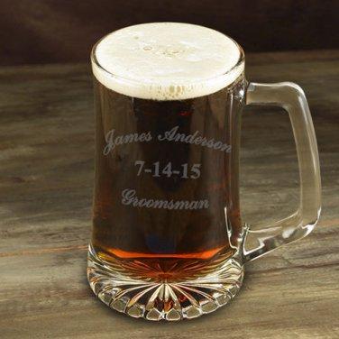 Groomsman 25 oz Mug - Free Personalization