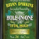 Hole in One Plaque/Sign - Free Personalization