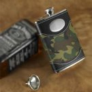 Green Camouflage Flask- Free Personalization