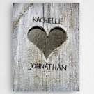 "Hand Carved Heart Canvas 18""x24"" - Free Personalization"